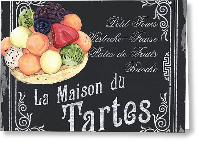 Vegetarian Greeting Cards - La Maison du Tartes Greeting Card by Debbie DeWitt