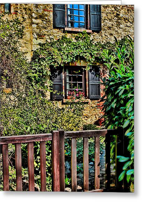 Stone House Digital Greeting Cards - La Maison En Pierre Greeting Card by Tom Prendergast