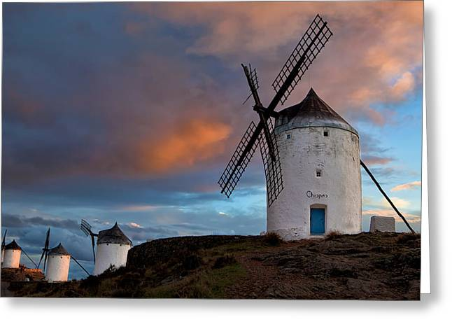 Consuegra Greeting Cards - La Mancha Greeting Card by Mario Moreno