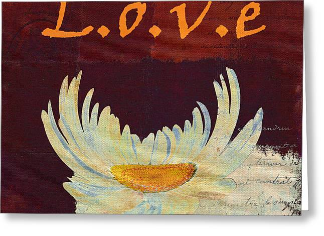 Red Wine Digital Art Greeting Cards - La Marguerite - Love Red Wine  Greeting Card by Variance Collections