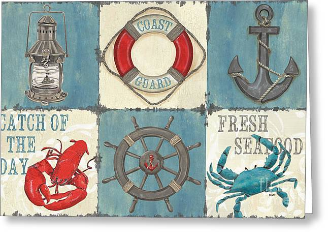 Guard Greeting Cards - La Mer Collage Greeting Card by Debbie DeWitt