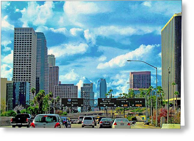 Midday.light Greeting Cards - LA Modern 2 Greeting Card by Russell Jenkins