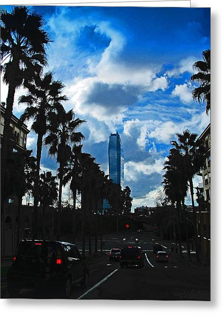 Midday.light Greeting Cards - LA Modern Greeting Card by Russell Jenkins