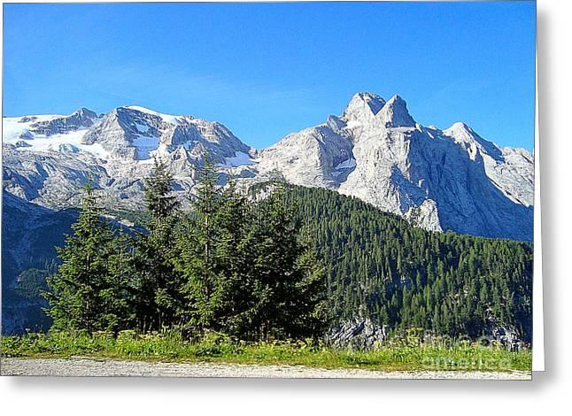 Alberi Greeting Cards - La montagna Greeting Card by Adriana Otetea