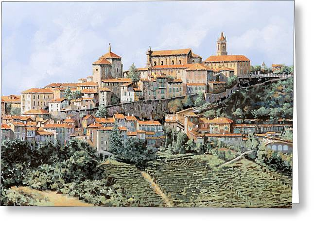 G Greeting Cards - La Morra Greeting Card by Guido Borelli