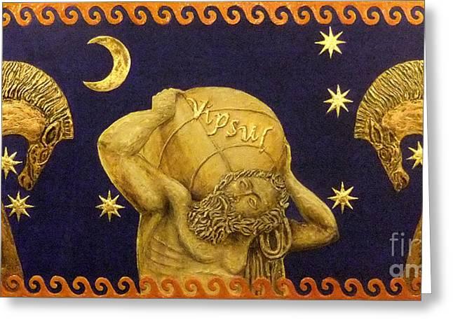 Star Reliefs Greeting Cards - La nascita di Vipsul Greeting Card by Anna Maria Guarnieri