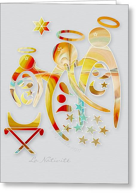 La Nativite Greeting Card by Gayle Odsather