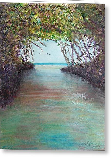Puerto Rico Pastels Greeting Cards - La Parguera Greeting Card by Janet Garcia