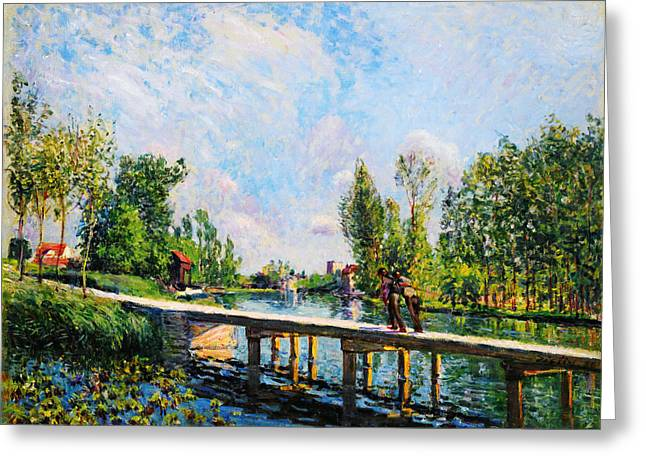 Bravery Greeting Cards - La Passerelle Greeting Card by Celestial Images