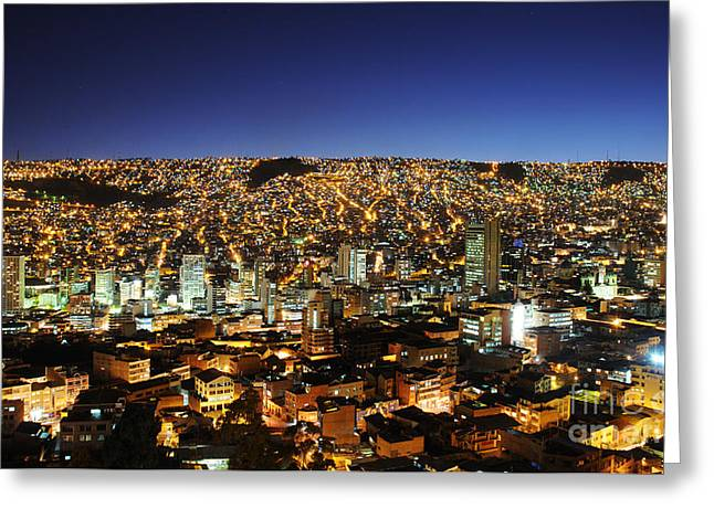 La Paz Greeting Cards - La Paz Bolivia Greeting Card by Colin Woods