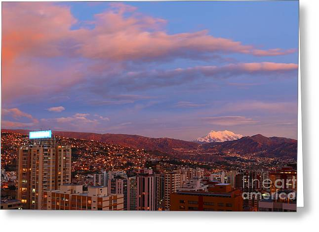 La Paz Twilight Greeting Card by James Brunker