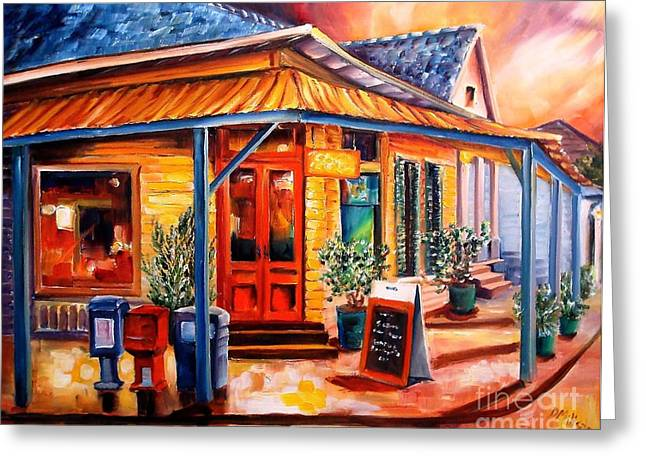 Night Cafe Greeting Cards - La Peniche in New Orleans Greeting Card by Diane Millsap