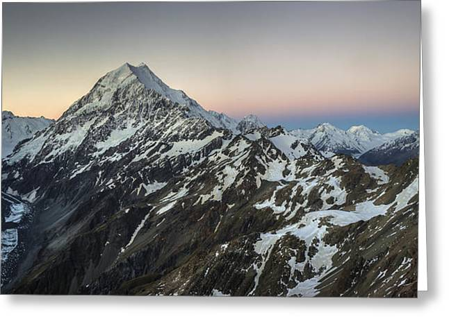 Perouse Greeting Cards - La Perouse Mount Cook And Malte Brun Greeting Card by Colin Monteath