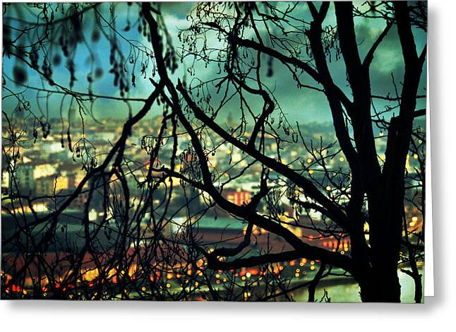 City Lights Greeting Cards - La Perte Greeting Card by Taylan Soyturk