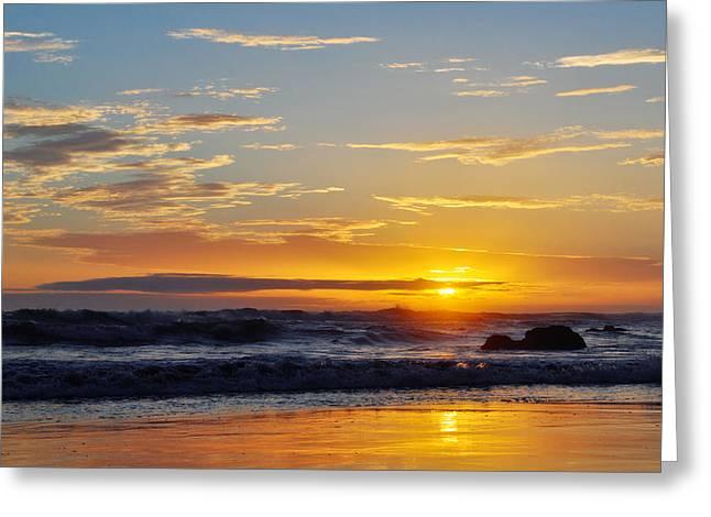 Coast Highway One Greeting Cards - La Piedra Sunset Malibu Greeting Card by Kyle Hanson