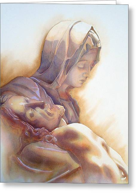 Unique Art Greeting Cards - LA PIETA By Michelangelo Greeting Card by Jose Espinoza