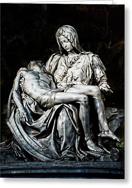 Michelangelo Greeting Cards - La Pieta Greeting Card by Weston Westmoreland