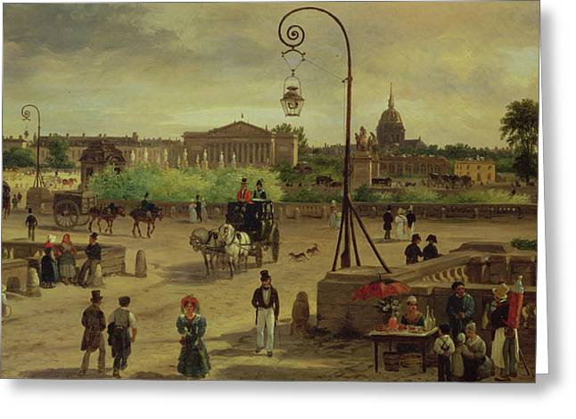 La Place De La Concorde Greeting Card by Giuseppe Canella