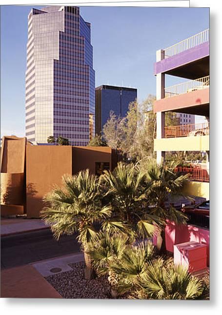 Tucson Arizona Greeting Cards - La Placita Tucson Az Greeting Card by Panoramic Images
