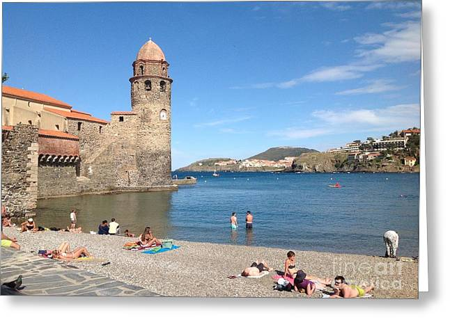 South Of France Greeting Cards - La Plage..the Beach Greeting Card by France  Art