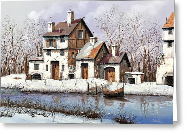 Snow White Greeting Cards - La Prima Neve Greeting Card by Guido Borelli
