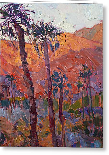 Impressionist Greeting Cards - La Quinta Dawn - Triptych Right Panel Greeting Card by Erin Hanson