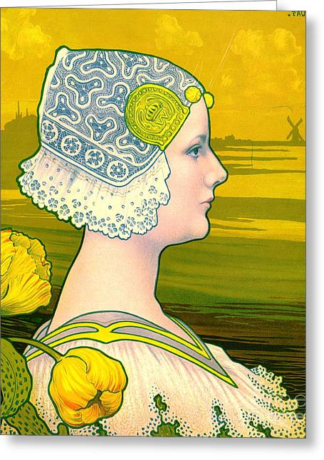 Lace Trim Greeting Cards - La Reine Wilhelmina 1901 Greeting Card by Padre Art
