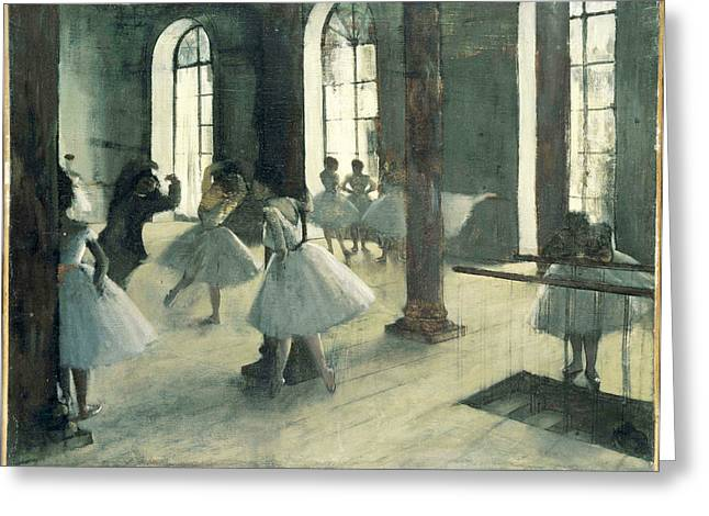 Gestures Greeting Cards - La Repetition au foyer de la danse Greeting Card by Edgar Degas