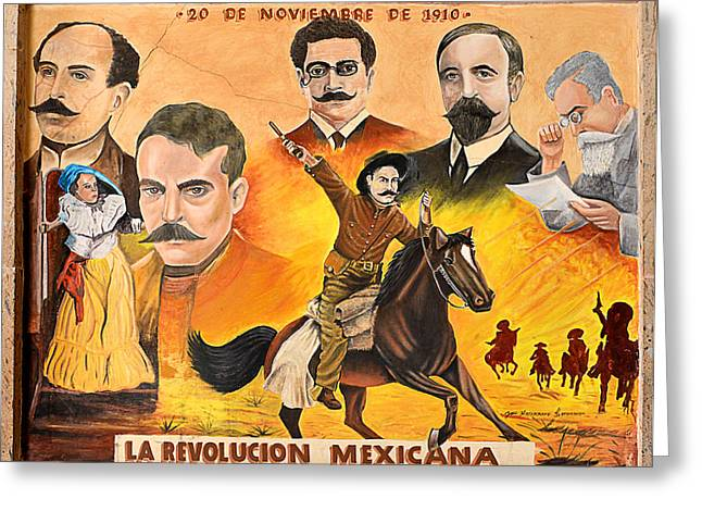 Riders Greeting Cards - La Revolution Mexicana Greeting Card by Christine Till