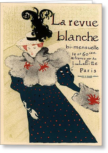 Belle Epoque Greeting Cards - La revue blanche Greeting Card by Gianfranco Weiss