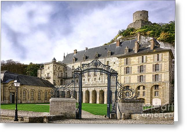 Medieval Entrance Photographs Greeting Cards - La Roche Guyon Castle Greeting Card by Olivier Le Queinec