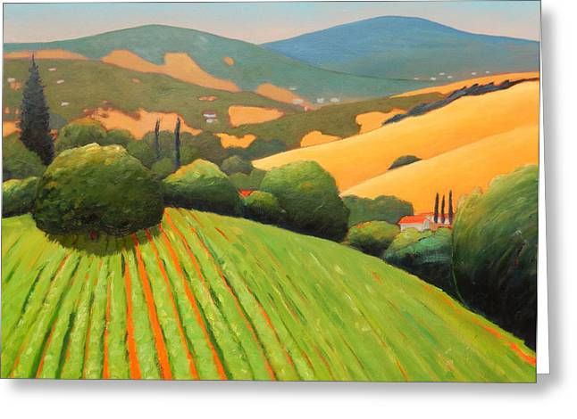 Rolling Hills Vinyards Greeting Cards - La Rusticana revisited Greeting Card by Gary Coleman
