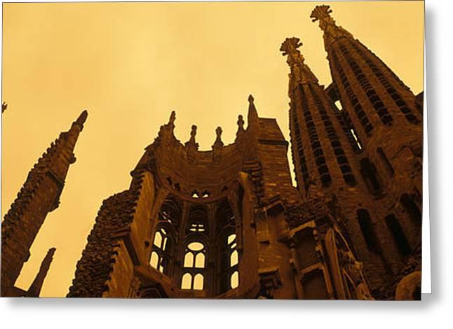 Gaudi Greeting Cards - La Sagrada Familia Barcelona Spain Greeting Card by Panoramic Images