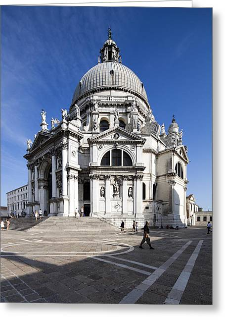 Dorsoduro Greeting Cards - La Salute Basilica Greeting Card by Felipe Rodriguez