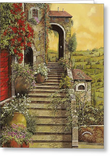 Red Doors Greeting Cards - La Scala Grande Greeting Card by Guido Borelli