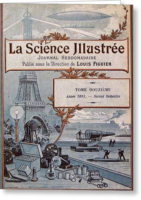 La Science Illustree Front Cover Greeting Card by Universal History Archive/uig