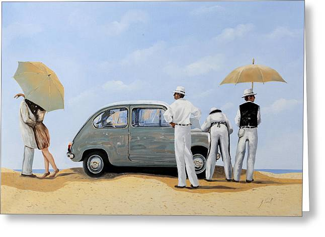 Dating Paintings Greeting Cards - La Seicento Greeting Card by Guido Borelli