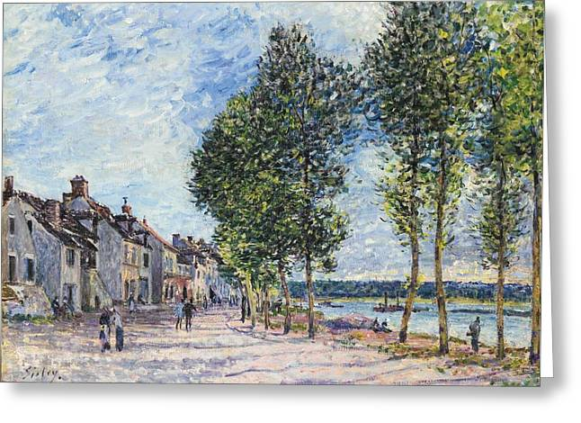 Bravery Greeting Cards - La Seine A Bougival Greeting Card by Celestial Images