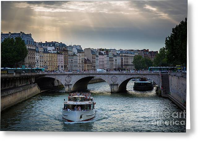 Europa Greeting Cards - La Seine Greeting Card by Inge Johnsson