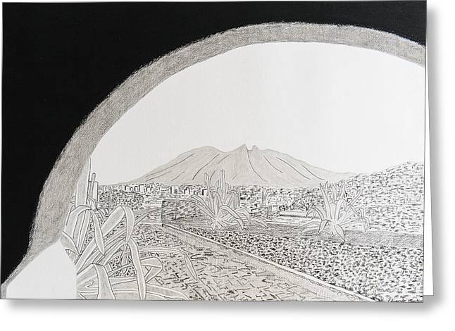 Bishop Hill Greeting Cards - La Silla Hill from Bishops Museum Greeting Card by Eduardo Machuca