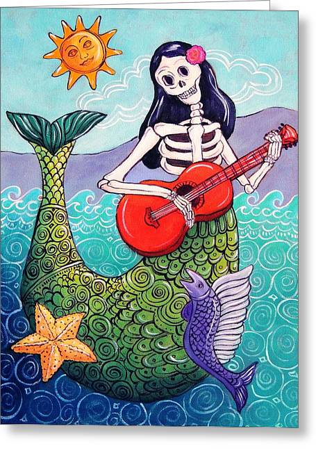 Under The Sea Mermaid Greeting Cards - La Sirena Greeting Card by Candy Mayer