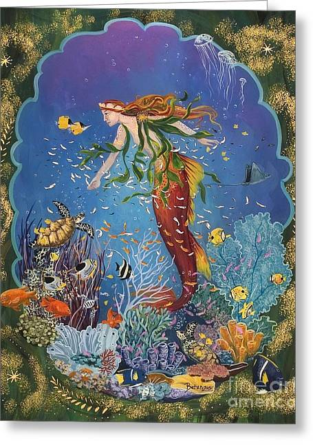 La Sirena Greeting Card by Sue Betanzos