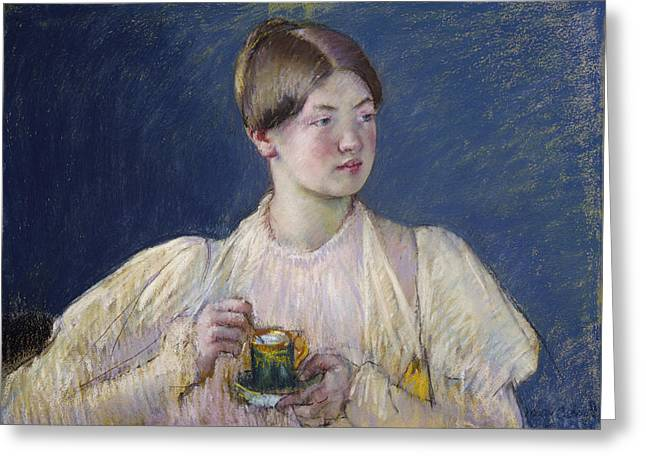 African-american Paintings Greeting Cards - La Tasse De The Greeting Card by Mary Cassatt