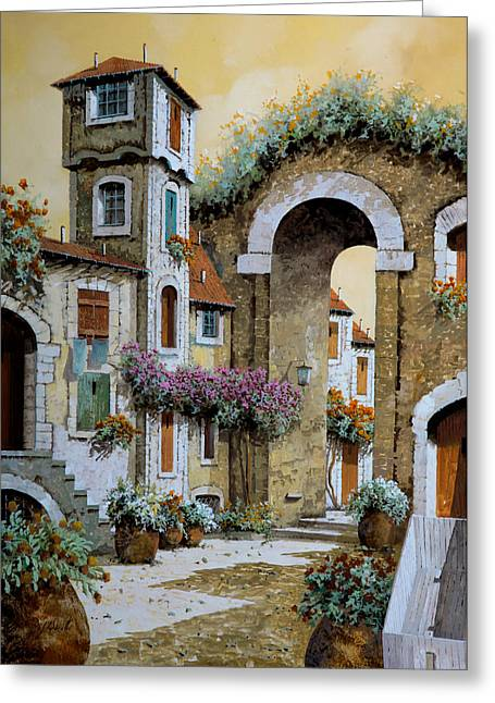 Carts Greeting Cards - La Torre Greeting Card by Guido Borelli