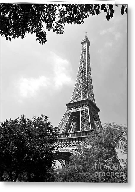 Mars Black Greeting Cards - La Tour Eiffel Greeting Card by Alex Cassels