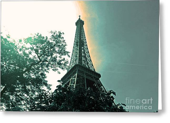 The Seer Greeting Cards - La Tour Eiffel Greeting Card by Calysta C
