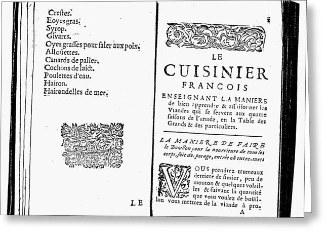 La Varenne Cookbook, 1686 Greeting Card by Granger
