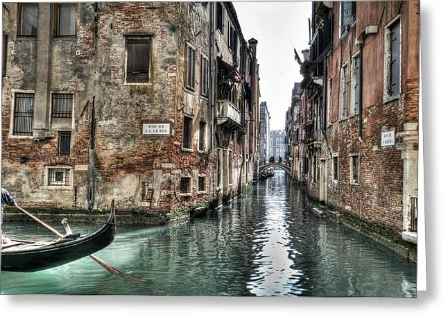 Waterways Greeting Cards - La Veste in Venice Greeting Card by Marion Galt