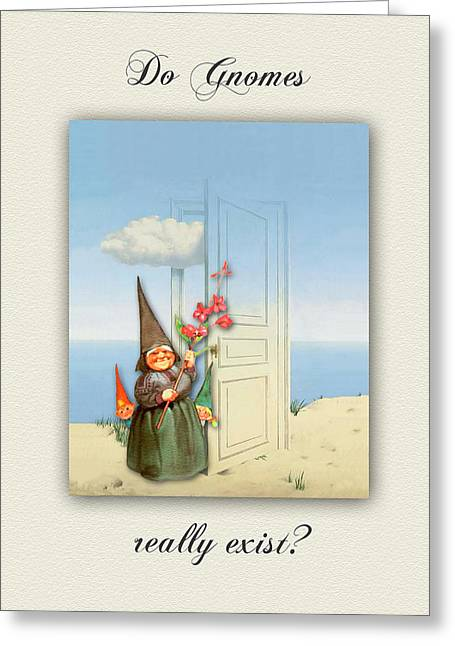 Gnomes Greeting Cards - La Victoire du Famille des Gnomes Greeting Card by Natasha Marco