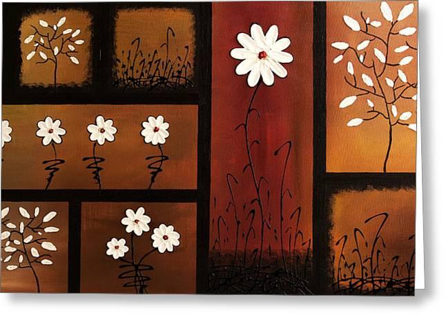 Poster Print Greeting Cards - La Vie en Blanc Greeting Card by Carmen Guedez